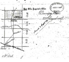 Postal map of Esterhaz colony 1887