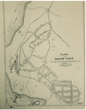 plan of Grand Falls NL