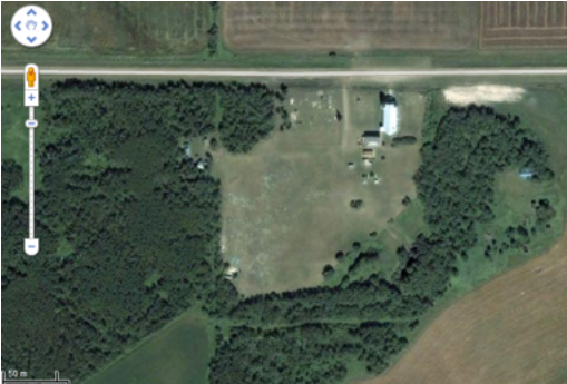 satellite view of Kaposvar church grounds
